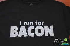 BACON T-shirt, Performance Short Sleeve Ladies' or Unisex Fit Sparkly Glitter T-Shirt