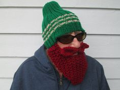 Ready to ship  My 6 year old Grand daughter is modeling for me ! This is a great unique one of a kind Childrens beard hat for boys or girls! Even kids like to have a beard and mustache to dress up with !!! Very warm and a lot of fun!  Knitted viking hat is Great gift for any occasion as birthday ,Christmas, valentines day, Halloween, bike rides long beard beanies beanies for children  Knitted hat with detached beard. It is made from soft 100% acrylic yarn for easy care.  Only one hat with…