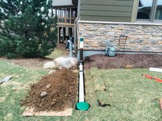 UnderGroud Downspout extension kit diverts water away from your basement foundation. No maintenance needed! Easy to install downspout extension. Gutter Drainage, Backyard Drainage, Landscape Drainage, Drainage Solutions, Drainage Ideas, French Drain, Front Yard Landscaping, Landscaping Ideas, Walkway Ideas