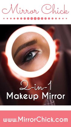 Mirror Chick ™ Makeup Mirror, LED light and Phone Charger. Eyeliner Looks, Eyeshadow Looks, How To Apply Makeup, Applying Makeup, Flawless Makeup, Eye Makeup, Led Makeup Mirror, Art Of Beauty, High End Makeup