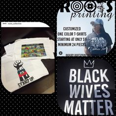 Promoting Roots Clothing Line And Printing Services Need Business