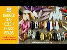 Video! DAGGER LEAVES Czech Glass Beads   #czechbeadsexclusive #czechglassbeads