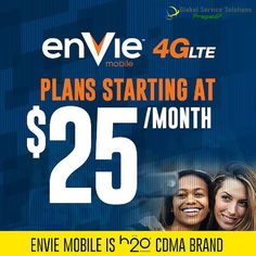 Now Available! enVie Mobile 4G LTE $25 Plan! For more information contact us at sales@gotprepaid.com #enviemobile