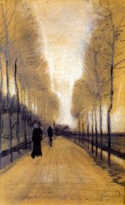 Alley Bordered by Trees - Vincent van Gogh - The Athenaeum