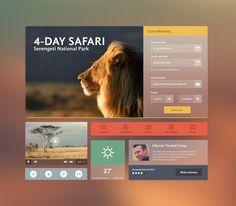 Flat Web UI : Safari