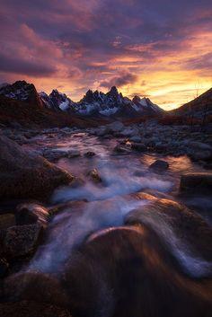 Rapids at Sunset