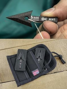 ESEE Knives AW AH1 Arrowhead Wallet with Black Nylon Construction
