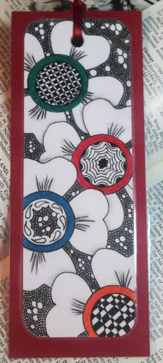 Hey, I found this really awesome Etsy listing at https://www.etsy.com/listing/189751952/bookmark-spring-time-zentangle-inspired