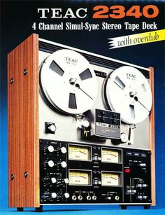 1972 brochure covering the Teac 2340 reel to reel tape recorder in Phantom Productions' reel tape recording collection Recording Equipment, Audio Equipment, School Equipment, Cd Audio, Hi Fi System, Magnetic Tape, Vintage Ads, Retro Ads, Tape Recorder