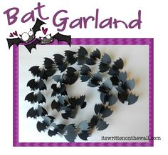 It's Written on the Wall: Halloween Decor Bat Garland-Super Simple to Make