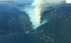 Wildfire at Harrison Lake in BC's Fraser Valley grows