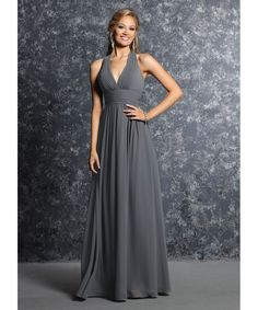 Aliexpress.com : Buy 2016 Gray Bridesmaid Dresses Long Halter Sleeveless Backless Pleats Chiffon Top Quality robe demoiselle d'honneur from Reliable robe sexy suppliers on Life&Peace Dress Store  | Alibaba Group