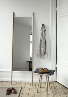 "Here we showcase a a collection of perfectly minimal interior design examples for you to use as inspiration.Check out the previous post in the series: Inspiring Examples Of Minimal Interior Design tml-render-layout=""inline""> Leaning Floor Mirror, Standing Mirror, Floor Mirrors, Wall Mirrors, Interior Design Examples, Interior Design Inspiration, Design Ideas, Interior Blogs, Simple Interior"