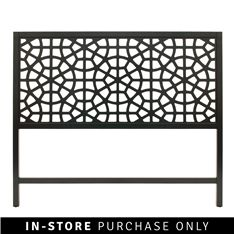 You're a romantic at heart and love intricate detail inspired by far-off places. If you're looking to refresh your most romantic space, why not add the Moroccan headboard? Beautiful fretwork gets a contemporary twist, with an on-trend black finish. Black Headboard, Black Queen, At Home Store, Moroccan, Contemporary, Inspiration, Furniture, Home Decor, Bedroom