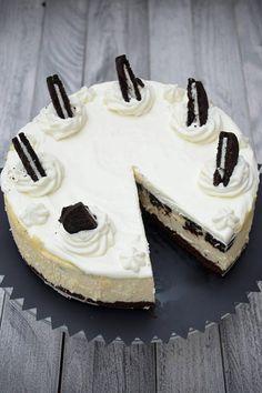 Sernik z ciasteczkami Oreo Oreo, Bb, Cake, Food, Kuchen, Essen, Meals, Torte, Cookies