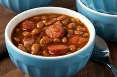 Easy Bacon and Frank BBQ Beans recipe #GameDay