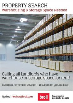 Broll Indian Ocean - Calling all Landlords who have Warehouse or Storage Space for Rent. Oceans 14, Property Search, Being A Landlord, Ground Floor, Alter, Storage Spaces, Warehouse, Real Estate, Real Estates