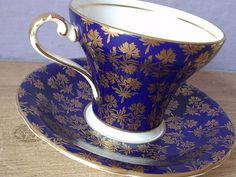 Vintage Aynsley corset shape tea cup set antique by ShoponSherman