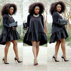 Women dress women black dress black dress A line dress dress other colors available - Black Dresses - Ideas of Black Dresses - Latest African Fashion Dresses, African Dresses For Women, African Print Fashion, African Attire, African Wear, African Women, African Prints, Africa Fashion, Look Fashion