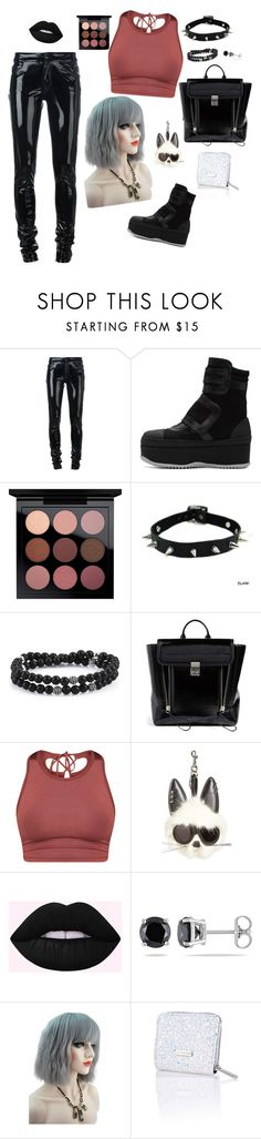 """Punk rock."" by bunnisexy ❤ liked on Polyvore featuring Anthony Vaccarello, Marni, 3.1 Phillip Lim, STELLA McCARTNEY, Ice and Skinnydip"