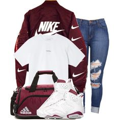 A fashion look from January 2016 featuring Marques'Almeida t-shirts. Browse and shop related looks. Teenage Outfits, Teen Fashion Outfits, Outfits For Teens, Fall Outfits, Summer Outfits, Girl Jordan Outfits, Outfits With Jordans, Church Outfits, Womens Jordans