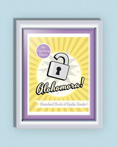 INSTANT DOWNLOAD Typographic Quote Harry Potter Poster - Alohomora Spell Poster - Harry Potter Wall Decor - Harry Potter Gift Item!
