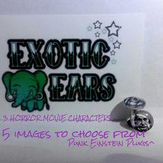 Horror plugs image plugs Einstein plugs Edgar Allan by ExoticEars