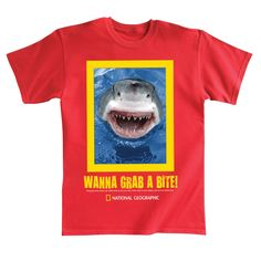 Wanna Grab A Bite! Shark Adult T-shirt | National Geographic Store