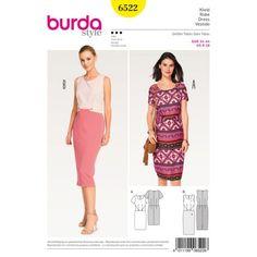 Patron BURDA 6522 T 34 à 44 : Robe
