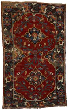 KARAPINAR rug, 18th century. (The Textile Museum, Washington DC).