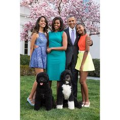 Presidential Perfection! The First Family poses on the White House lawn on Easter Day 2015.