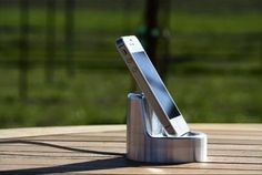 the Stand iPhone Dock.  Charges your phone and also boosts its sound without electronics.