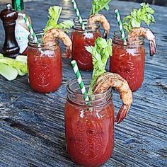 Creole Grilled Shrimp Bloody Mary