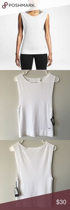 NWT Nike Women's Luxe Knit DRI-FIT Tank Nike Dri-FIT Knit Sleeveless Training Shirt features a relaxed fit and soft, sweat-wicking fabric that dries faster than ever. Open-hole mesh and ventilation zones provide breathability where you need it most. Relaxed Fit: The tee has a loose, stretchy fit that is flattering and easy to layer. The dropped armholes let you move freely. Seamless Design: The soft, engineered knit fabric is made without seams for a smooth feel against your skin as you…