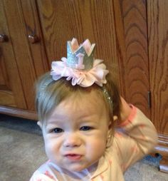 Pink and gold minnie mouse birthday crown by KenzeesKloset on Etsy