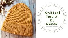 Knitted Hats, Crochet Hats, Macrame, Pure Products, Knitting, Handmade, Youtube, Knitting Hats, Hand Made