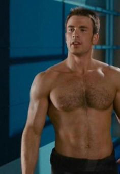 Chris Evans...I need to watch Capt. America again!