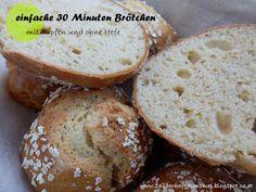 schnelle und gesunde glutenfreie Brötchen ohne Hefe