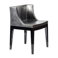 Philippe Starck Mademoiselle Chair in Crocodile Pewter