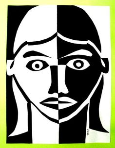 Positive and negative space portrait.