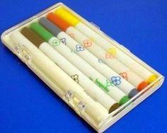 Um conjunto de canetinhas tão simpático. | 28 coisas que você nunca mais vai ver na sua vida
