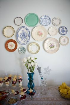 by plates at antique stores and creat wall art