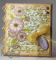 Heartfelt Creations | Lavender Tattered Collage
