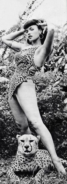 Bettie Page - beauty before photoshop, cheesecake, fetish and femininity http://www.burlexe.com/eight-wonderful-bettie-page-burlesque-gifs/