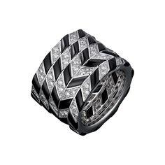 CARTIER. Ring - white gold, buff-top onyx, brilliant-cut diamonds. #Cartier #CartierRoyal #2014 #HauteJoaillerie #HighJewellery #FineJewelry #Onyx #Diamond