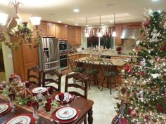 Wishing you a very merry Christmas, The kitchen dining room combo is the heart of our home. We spend the holidays entertaining family and fr...