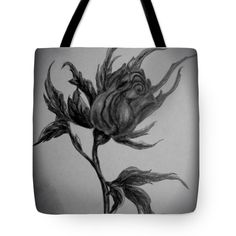 Rose Tote Bag featuring the drawing Wild Rose Sketch by Faye Anastasopoulou Rose Sketch, Fusion Art, Ocean Scenes, My Themes, Basic Colors, Bag Sale, Artist At Work, Color Show, Tote Bags