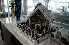 One of the Gingerbread Houses created by Viking Freya's skilled culinary team. It smells absolutely wonderful. Photo © 2012 Aaron Saunders