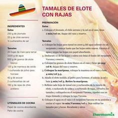 La Receta de Tamales de Elote con Rajas #Thermomix