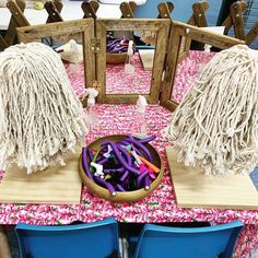 pk_and_k_playing_all_day Back by demand: hairdressing heads. Play Based Learning, Learning Through Play, Kids Learning, Dramatic Play Themes, Dramatic Play Centers, Funky Fingers, Activity Day Girls, Home Daycare, Play Centre